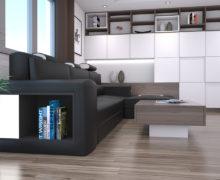 Sedežne garniture Šulc Eva L - črne2 barve