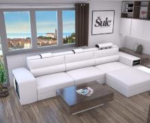 Sedežne garniture Šulc Eva L - bele barve