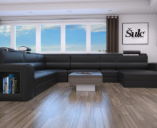 Sedežne garniture Šulc Eva U - črne2 barve