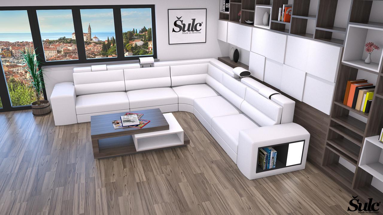 Sedežne garniture Šulc Eva XL - bele barve