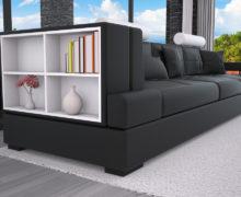Sedežne garniture Šulc Ajda trosed - črne2 barve