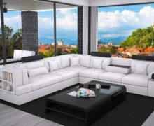 Sedežne garniture Šulc Ajda XL - bele barve
