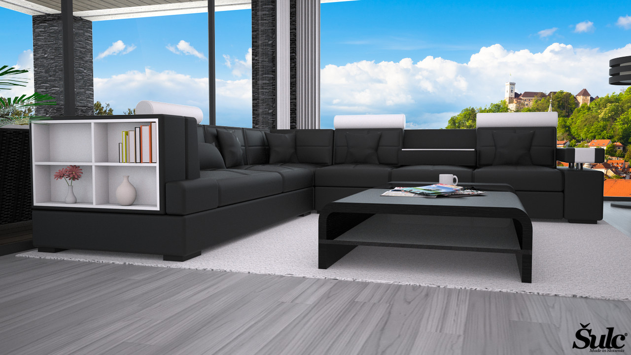 Sedežna garnitura Ajda XL - črne2 barve
