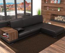 Sedežne garniture Šulc Barbara L - črne barve