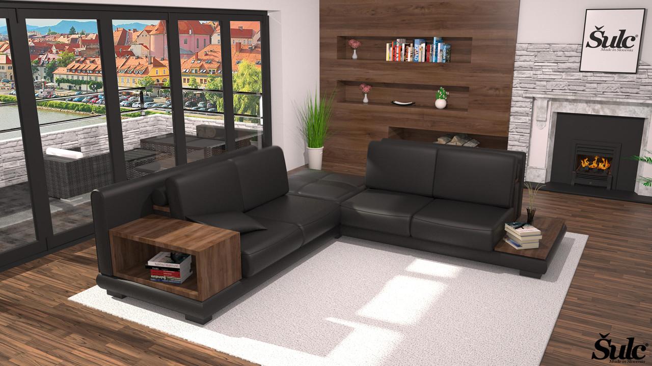 Sedežne garniture Šulc Barbara XL - črne barve