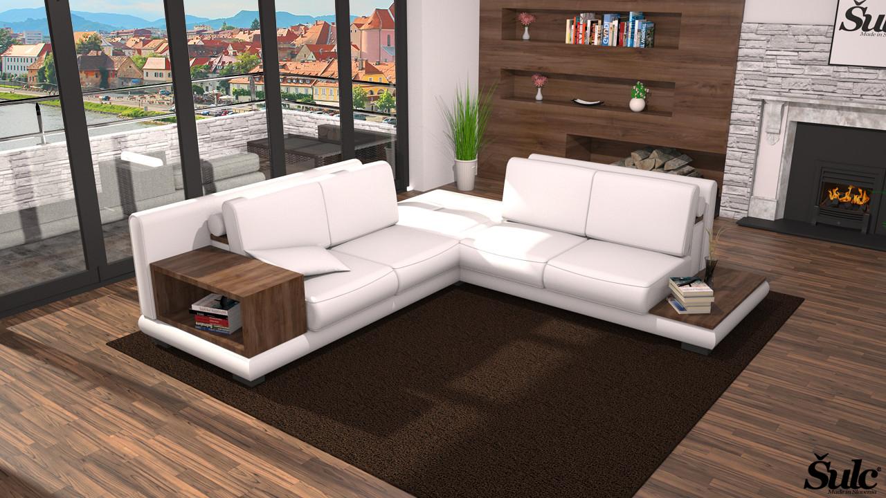Sedežne garniture Šulc Barbara XL - bele barve