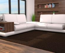 Sedežne garniture Šulc Barbara XL - bele2 barve