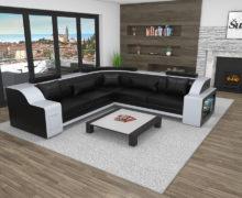Sedežne garniture Šulc Klara XL - črne2 barve
