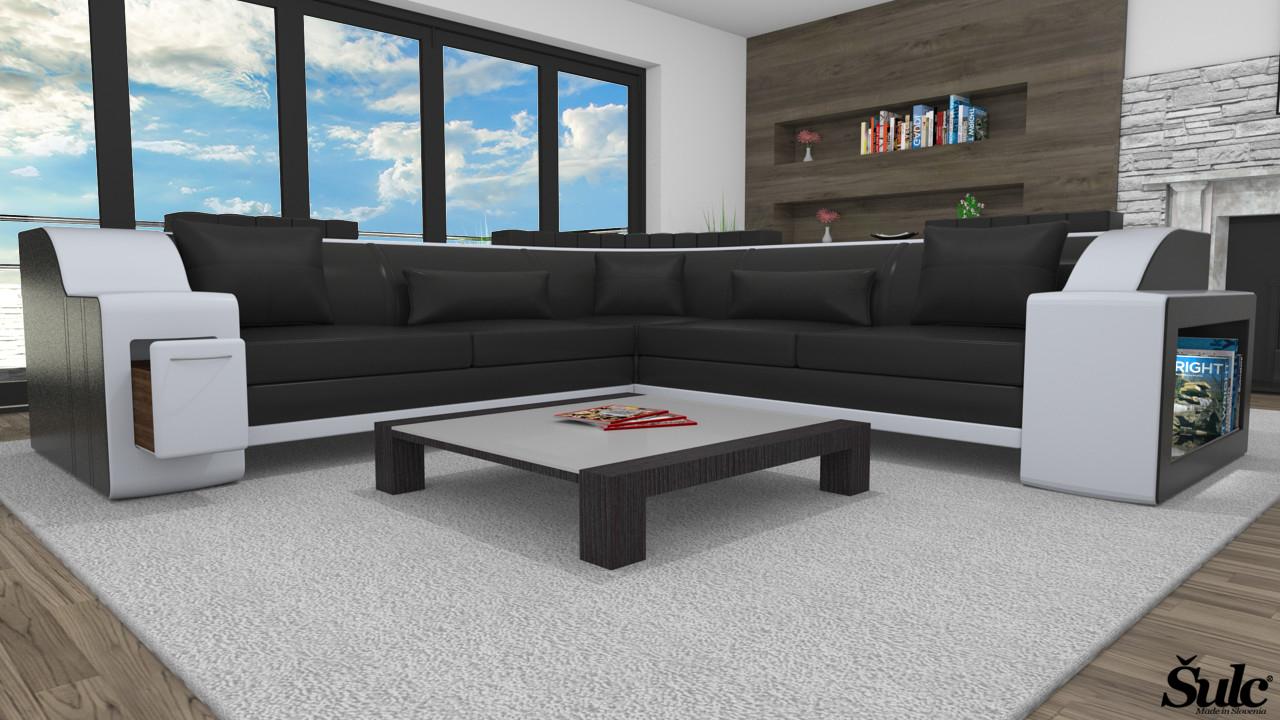 Sedežne garniture Šulc Klara XL - črne barve