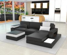 Sedežne garniture Šulc Meta L - črne barve