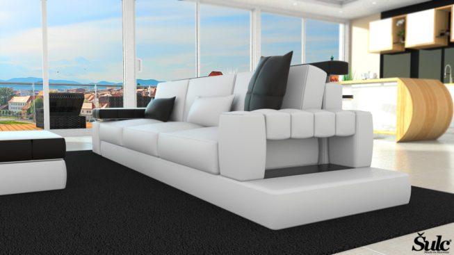 Sedežne garniture Šulc Meta trosed - bele2 barve