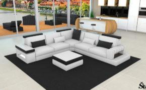 Sedežne garniture Šulc Meta XL - bele barve