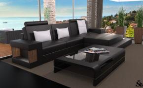 Sedežna garnitura Dora L - črne barve