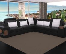 Sedežne garniture Šulc Dora XL - črne barve