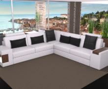 Sedežne garniture Šulc Dora XL - bele barve