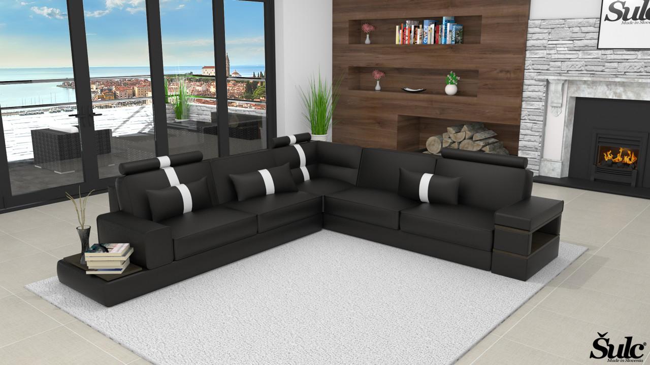 Sedežne garniture Šulc Jana XL - črne2 barve