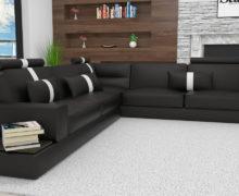 Sedežne garniture Šulc Jana XL - črne barve