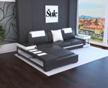 Sedežne garniture Šulc Franja L - črne barve