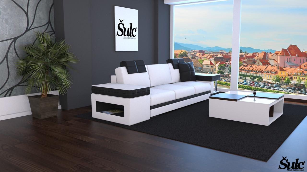 Sedežne garniture Šulc Franja trosed - bele barve