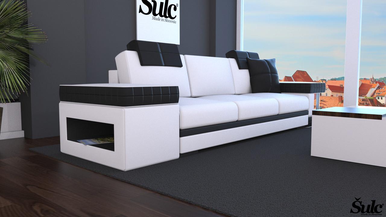 Sedežne garniture Šulc Franja trosed - bele2 barve