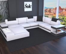 Sedežne garniture Šulc Franja U - bele barve