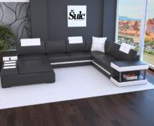Sedežne garniture Šulc Franja U - črne barve