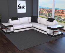 Sedežne garniture Šulc Franja XL - bele barve