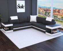 Sedežne garniture Šulc Franja XL - črne barve