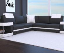 Sedežne garniture Šulc Franja XL - črne2 barve