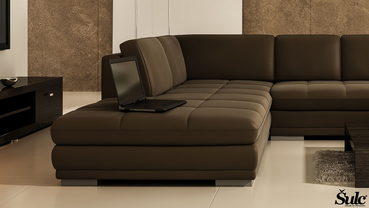 Sedežne garniture Šulc Dea XL - rjave2 barve