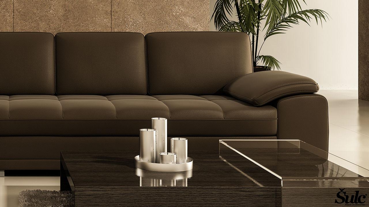 Sedežne garniture Šulc Dea XL - rjave3 barve