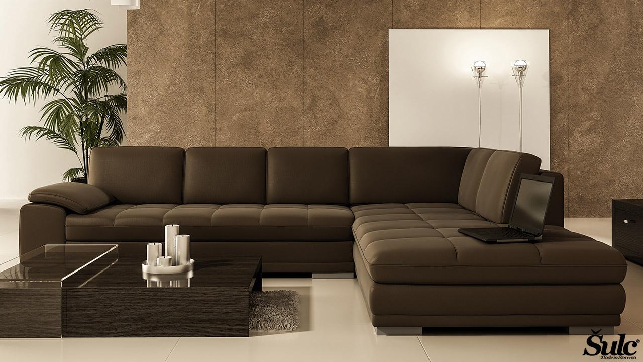 Sedežne garniture Šulc Dea XL - rjave5 barve