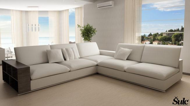 Sedežne garniture Šulc Tea XL - bele barve
