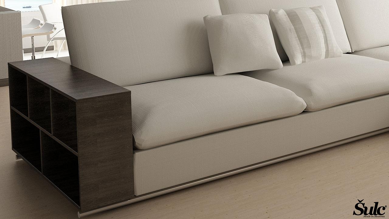 Sedežne garniture Šulc Tea XL - bele3 barve
